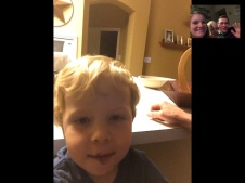 Facetime with Caedmon at Mimi and Papas house