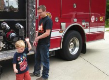 Caedmon was explaining how they pull the hoses out to shoot water and fight fires.