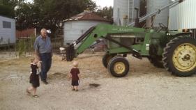 The boys LOVE tractors!