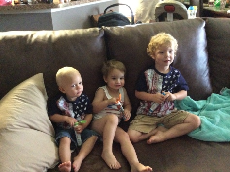The only way we could get these kids to sit was by bribing them with mini M&Ms.
