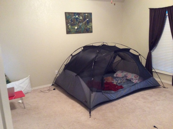 Our new tent bed! Woohoo!