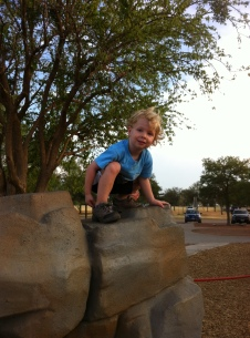 Caedmon at the park.