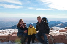 On top of Pike's Peak.