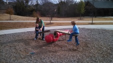We love finding parks to play at!