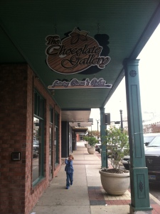 The delicious Chocolate Gallery in downtown Bryan. Thank you Ciana and Josh for the tour!